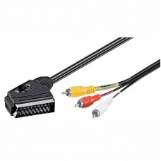 Scart In-Out 21Pin σε 3 RCA αρσενικά 1.5m